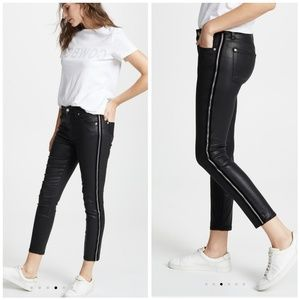 7 FAM B(air)Coated Black High-Waisted Skinny Jeans